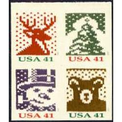 #4211-14 Christmas Knits, Set of Four Singles from Vending Book