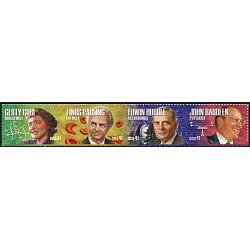 #4227a American Scientists, Horizontal Strip of Four