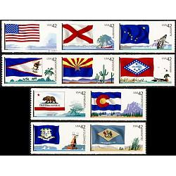 #4273-75, 4276-78, 4279-80, 4281-82, Flags of Our Nation, Lighthouse Format (1st of 6)