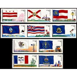 #4283-85, 4286-88, 4289-90, 4291-92, Flags of Our Nation, Lighthouse Format (2nd of 6)