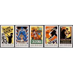 #4336-40 Vintage Black Cinema, Set of Five Single Stamps