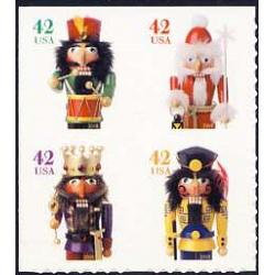 #4371a Holiday Nutcrackers, Block of Four from ATM Pane