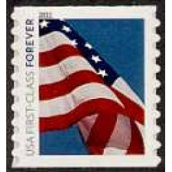 "#4491 Forever Flag Stamp, Coil Single, ""4EVR"""