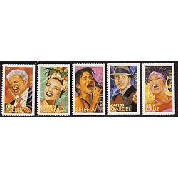 #4497-4501 Latin Music Legends, Set of Five Single Stamps