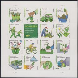 #4524 Go Green, Sheet of 16 Stamps