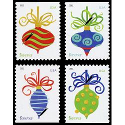 #4575-78 Holiday Baubles, Sennett Printing, Set of Four Singles
