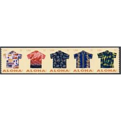 #4601a Aloha Shirts, Strip of Five Coil Stamps