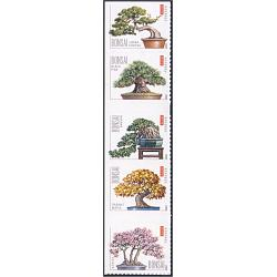 #4622a Bonsai, Vertical Strip of Five Stamps