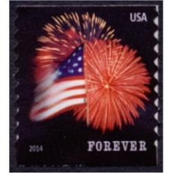 #4854 Fort McHenry Flag and Fireworks, Coil Die Cut 9½ (Potter)