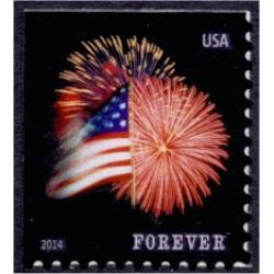 #4871 Fort McHenry Flag and Fireworks, ATM Booklet Single (Sennett)