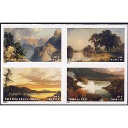 #4920a Hudson River School Paintings, Booklet Block of Four