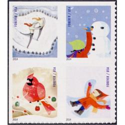 #4941-44 Winter Fun, Set of Four Singles from ATM Pane