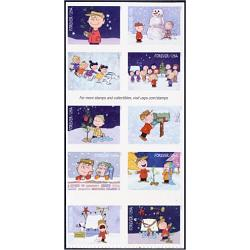 #5030a A Charlie Brown Christmas, Block of Ten Stamps