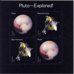 #5077-5078 Pluto - Explored, Sheet of Four Stamps