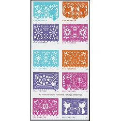 #5090a Colorful Celebrations, Block of 10 Booklet Stamps