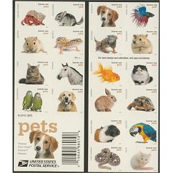 #5125a Pets Stamps, Booklet of 20 Different