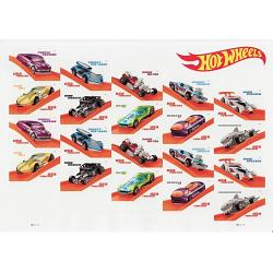#5321-30 Hot Wheels, Sheet of 20 Stamps