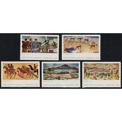 #5372-76 Post Office Murals, Set of Five Singles