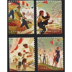 #5401-04 State and County Fairs, Set of Four Single Stamps