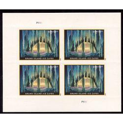 #5430 Grand Island Ice Caves, Priority Express Mail, Miniature Sheet of Four