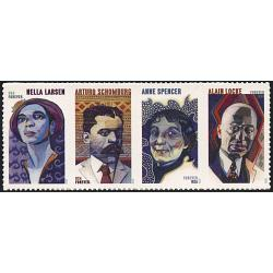 #5474a Voices of Harlem Renaisssance, Horizontal Strip of Four