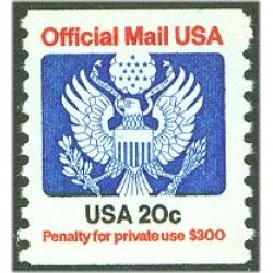 #O135 20¢ Official Mail, Coil