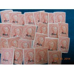 "# 678 Buy One or more of these 9¢ Jefferson\'s, Light Rose ""Nebr.\"" Overprints"