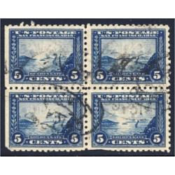 #403 Block of Four, Used, $64.00 Brookman Value