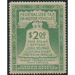 #RV 1 $2 Federal Motor Vehicle Use Tax, NH