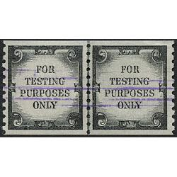 #TD107b Test Stamp, Line Pair, Tagged Violet Defacement Lines