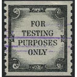 #TD107b Test Stamp, Tagged Violet Defacement Lines