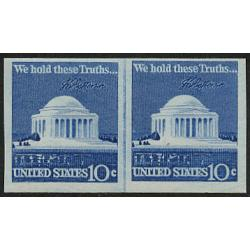 #1520b Jefferson Memorial, Imperforate Joint Line Pair