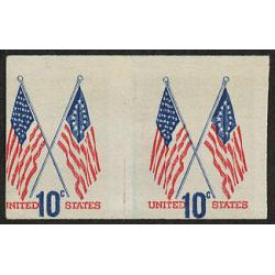 #1519 Crossed Flags, Imperforate Pair