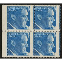 #1770 Robert Kennedy, Miscut Block of Four
