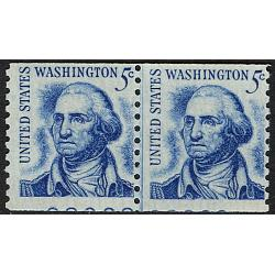 #1304 Washington, Joint Line Pair w/ Partial Plate Number