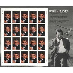 #3692 Cary Grant, Legends of Hollywood, Souvenir Sheet of 20
