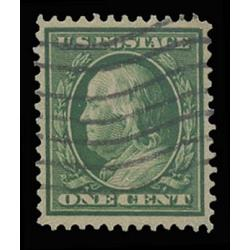 #357 Franklin, 1¢ Green, Bluish Paper, Graded 80 VF PSE Certificate