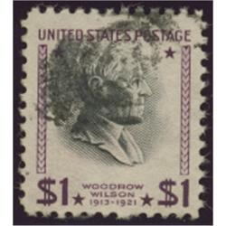 "# 832b Wilson, $1 Purple and Black, ""USIR"" PSE Certificate (*)"