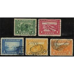 #397-400A Panama-Pacific Exposition Issue, Complete Set of Five