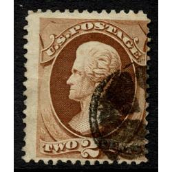 #135 Jackson 2¢ Red Brown