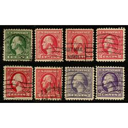#525-530 Washingtons, Complete Set of Eight